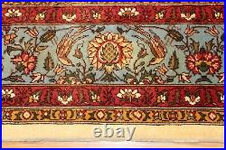 9' x 12' Handmade hand knotted Wool rug, Pictorial floral hunting design #PM75