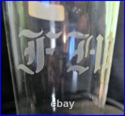 Custom etched FHB Family Hold Back Crystal Beer Horn/Stein Handmade Romania