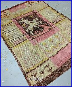 Dated 1951s Depicted St George&Dragon Transylvania-Romania Rug 3'8×5'2
