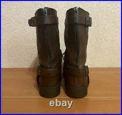 Dirk Bikkembergs Vintage Brown Leather Zip Snap Boots Made in Romania