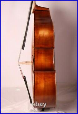 Doublebass Contrabass 3/4 Hand-Made in Europe from Solid Wood Antique Varnish