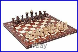 Handmade In Eastern Europe Deluxe Wood Chess Set 21 x 21 Board King 4.33 Tall
