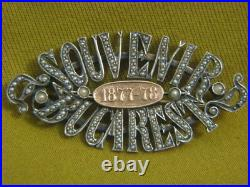 Independence Bucharest 1877-78 Gold & Silver & Genuine Micro Pearls Brooch