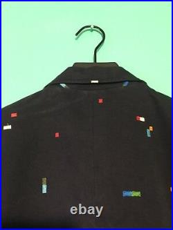 Nwt Band Of Outsiders Hand Made Color Embroidered Chino Jacket Navy 2 Men Medium