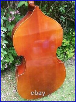 REGHIN -CLASSY DOUBLE BASS c50s, SOLID SPRUCE/MAPLE' HAND MADE IN ROMANIA