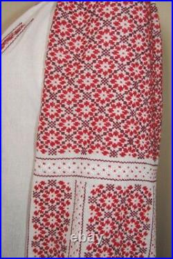 Romanian blouse handmade hand stitched ethnic top, hand embroidered top size S-M