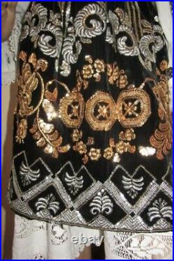 Romanian costume handmade outfit hand stitch beaded vintage from Banat size M