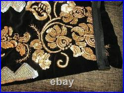 Romanian peasant aprons from BANAT, hand embroidered silver and golden aprons