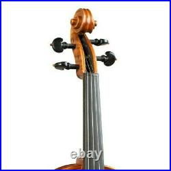 Violin 4/4 Stradivari Hand-made from 2 Piece Back Highly Maple + Case #11